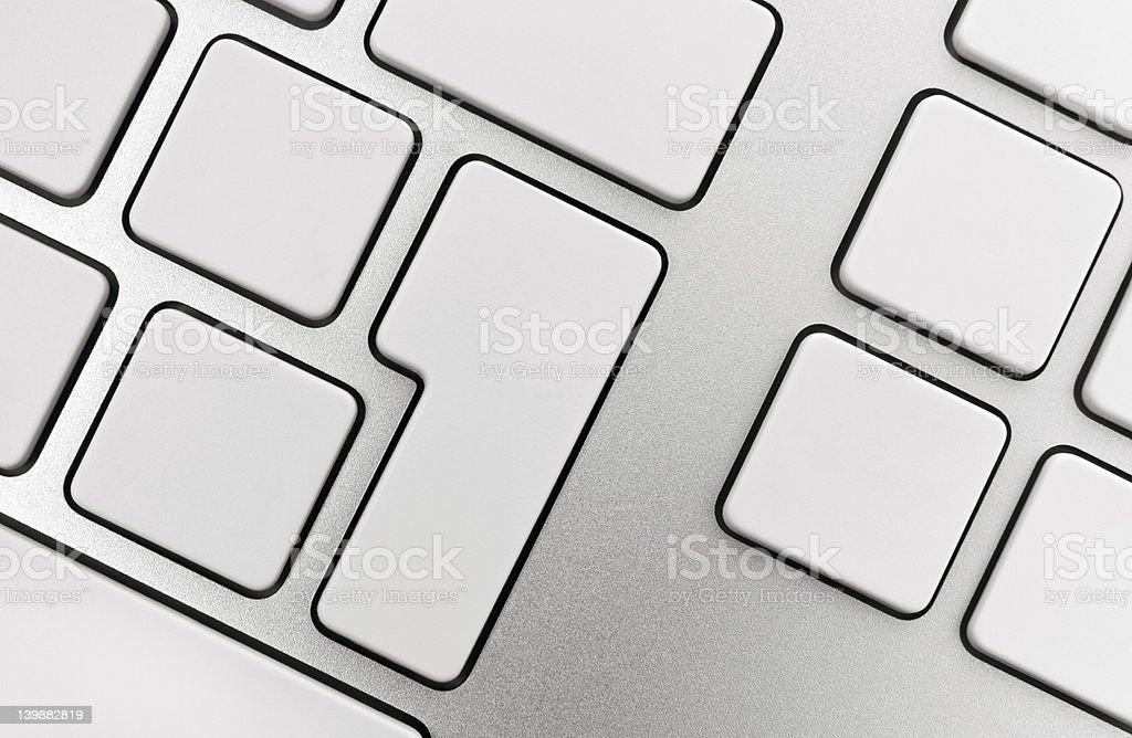 Blank Keys On Keyboard royalty-free stock photo