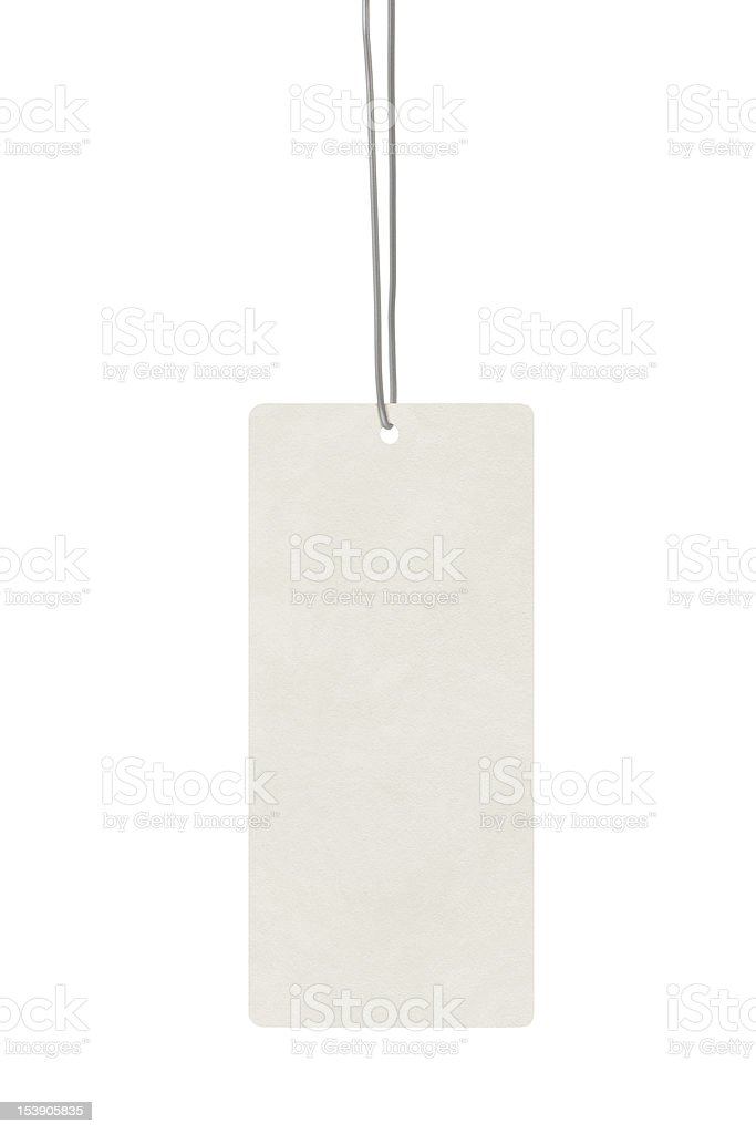 Blank label and string stock photo
