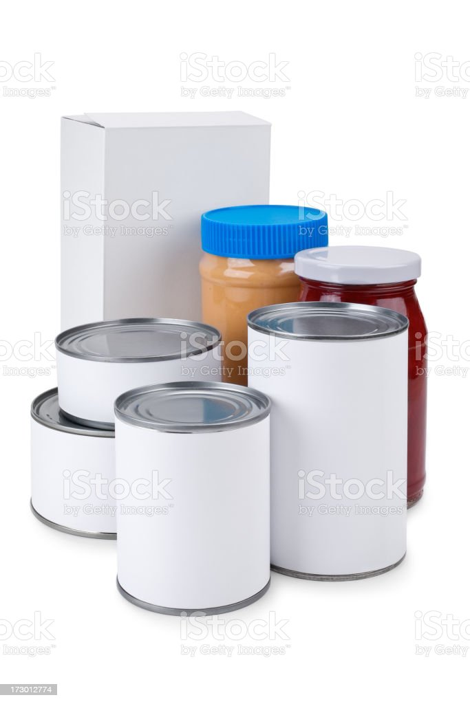 Blank Label Food Drive royalty-free stock photo