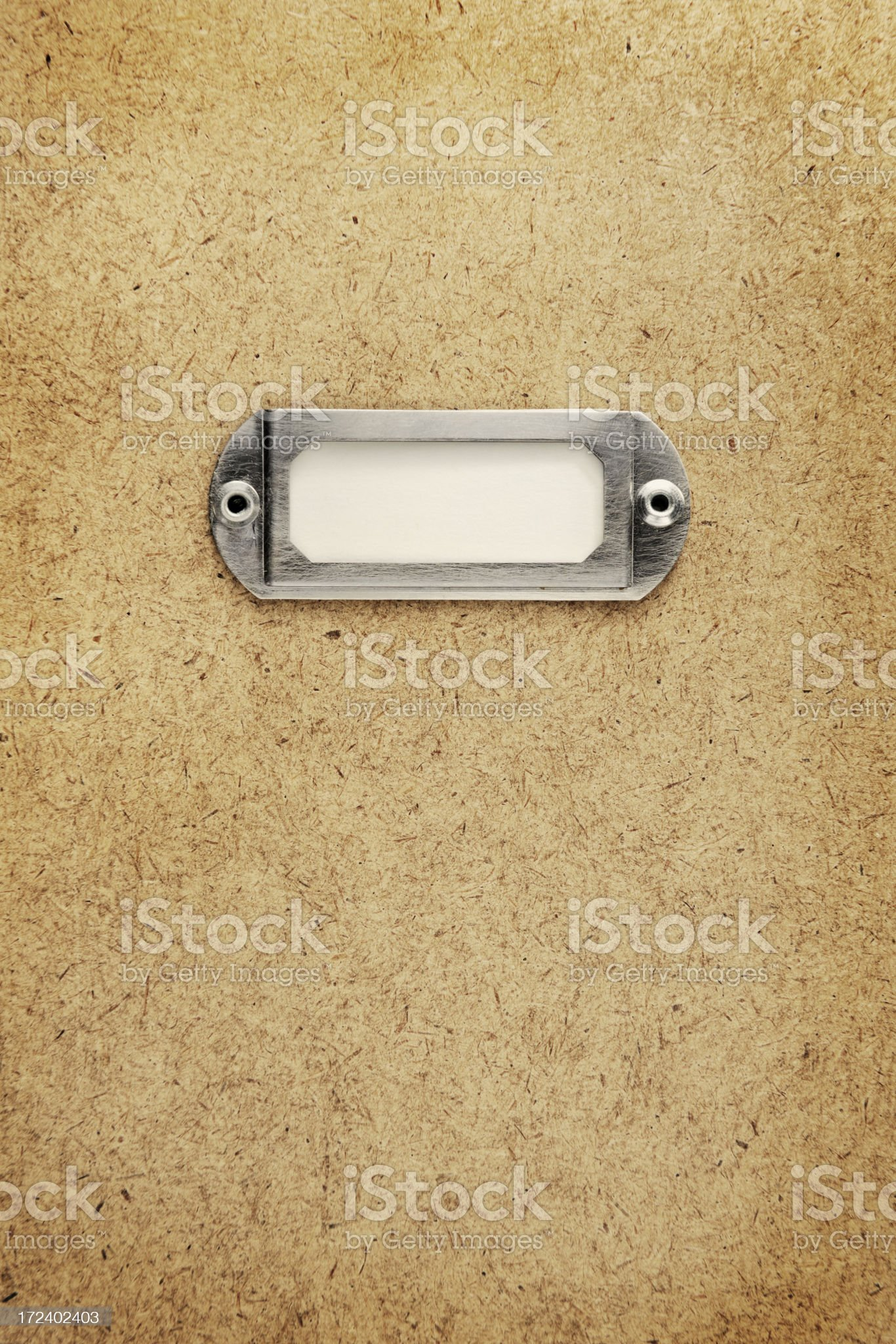 Blank Label on beige paper texture royalty-free stock photo