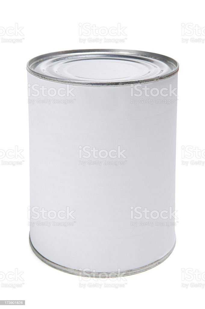 blank label on canned food stock photo