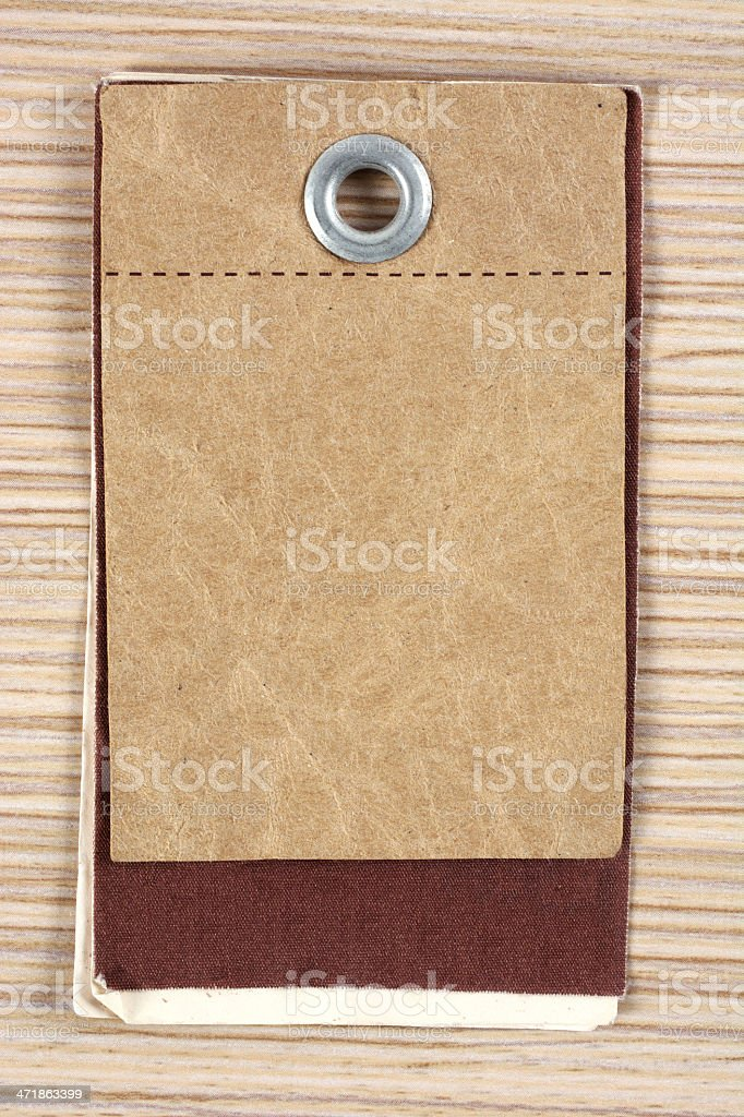 Blank label on table royalty-free stock photo