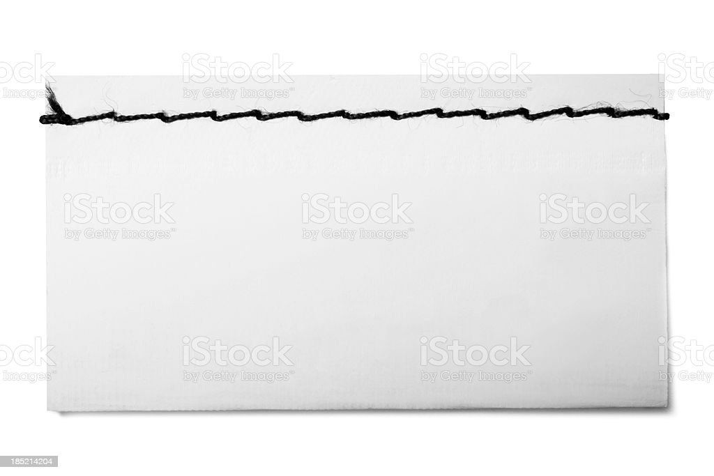 Blank Label stock photo