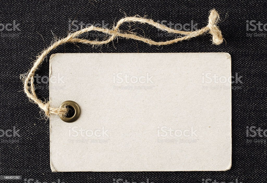 Blank label with string stock photo
