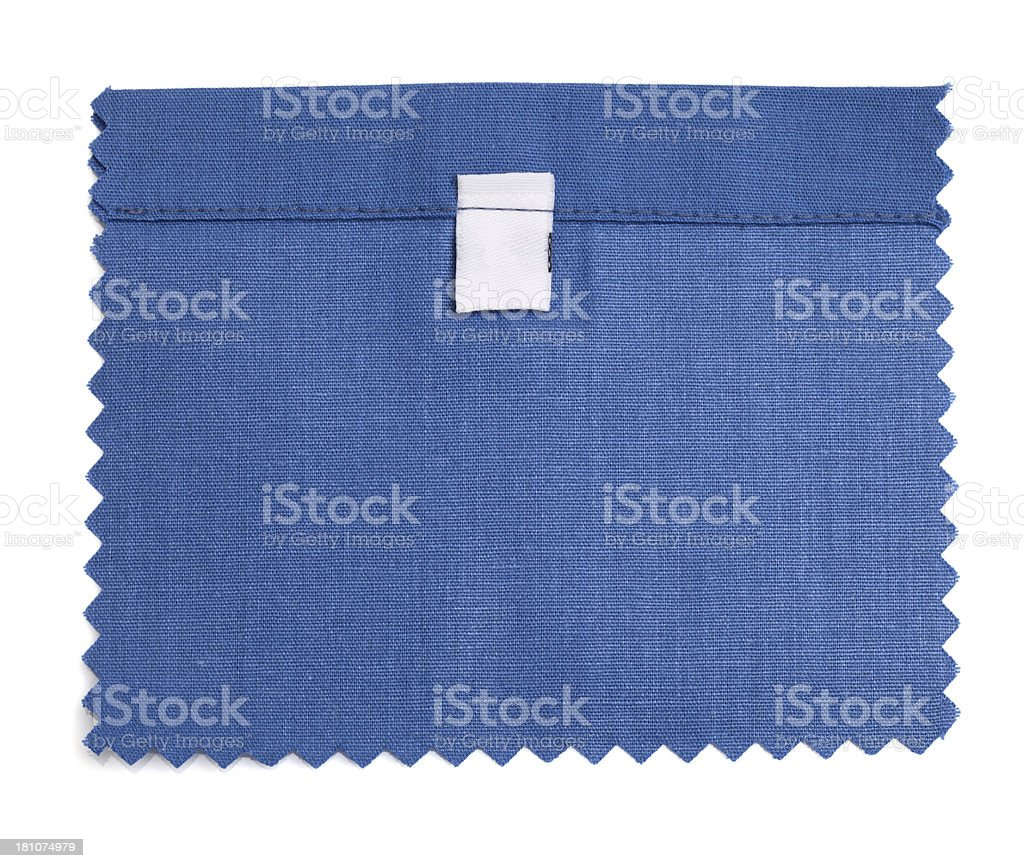 Blank Labeled Blue Fabric Swatch royalty-free stock photo