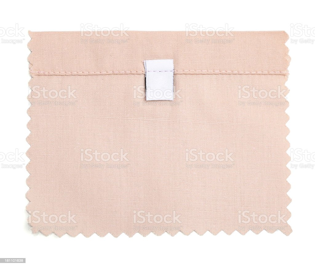 Blank Labeled Pink Fabric Swatch royalty-free stock photo