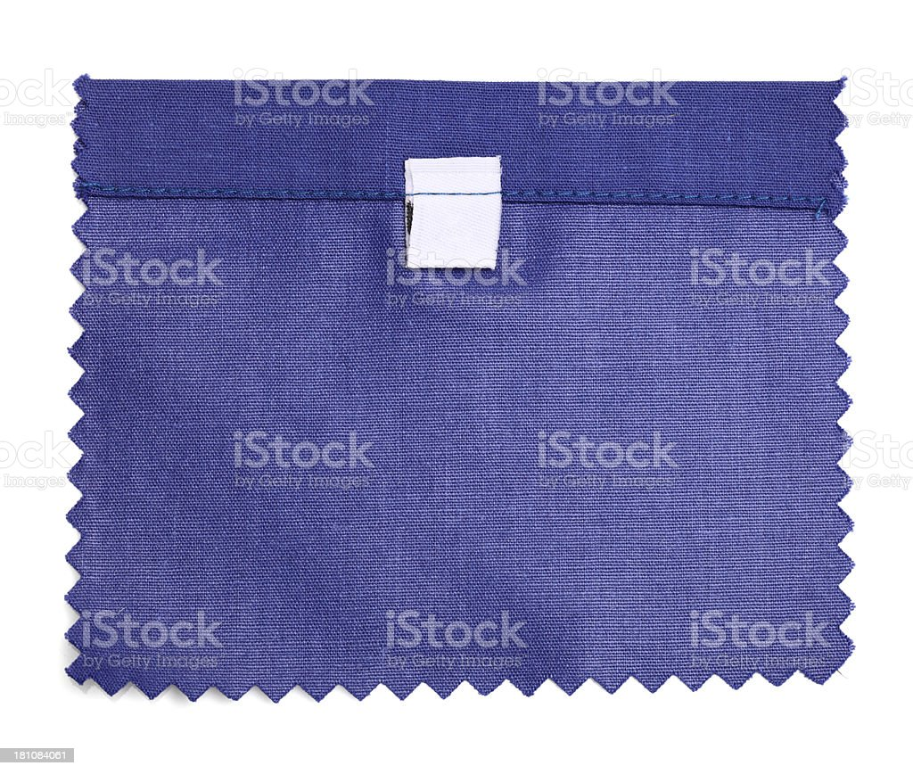 Blank Labeled Purple Fabric Swatch royalty-free stock photo