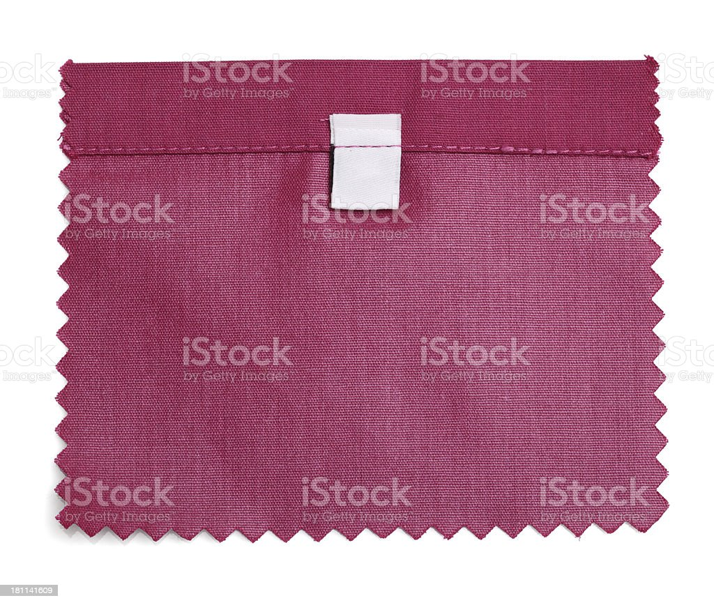 Blank Labeled Red Fabric Swatch royalty-free stock photo
