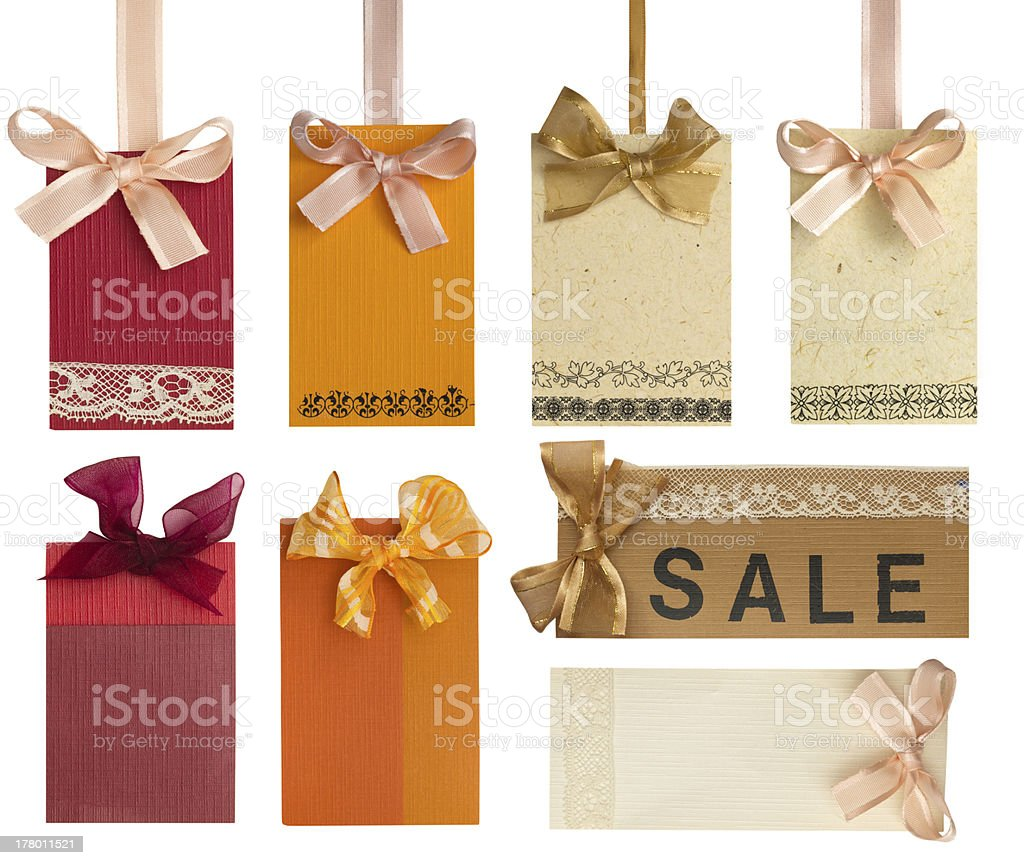 blank labels with lace royalty-free stock photo
