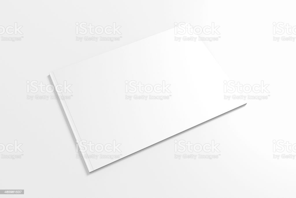 Blank Lanscape Catalog isolated on white stock photo