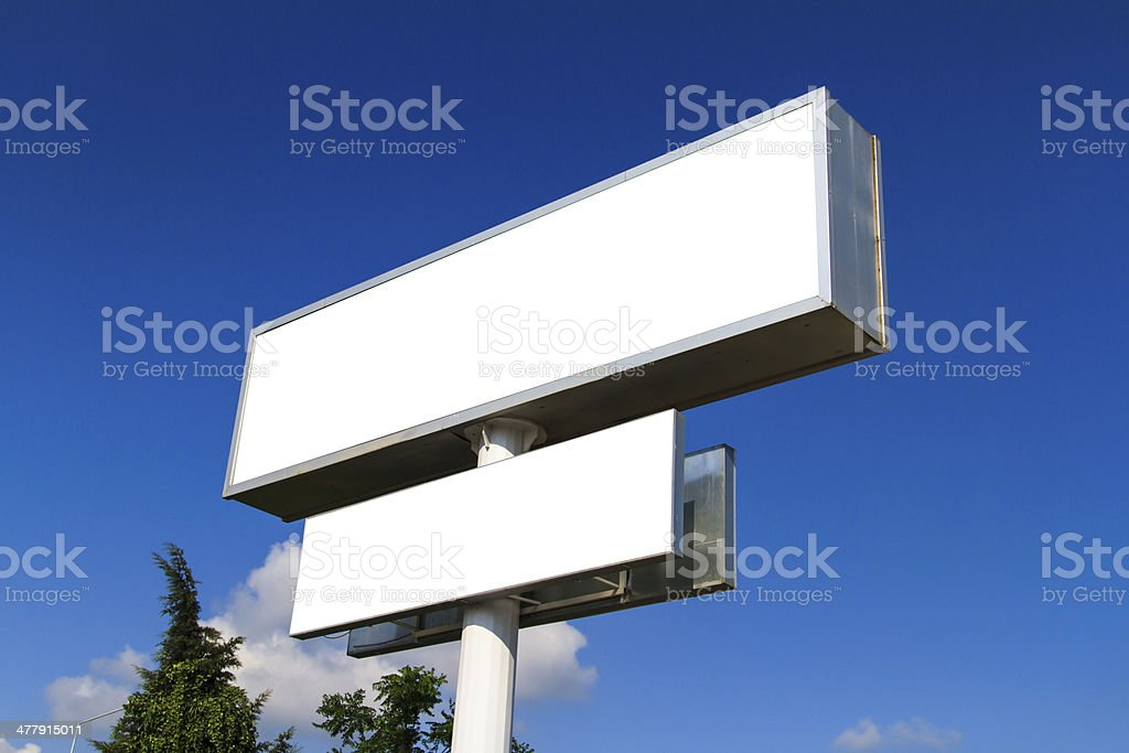 Blank Large Advertising Billboard Sign royalty-free stock photo
