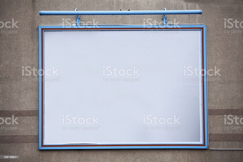 Blank large billboard on a wall stock photo