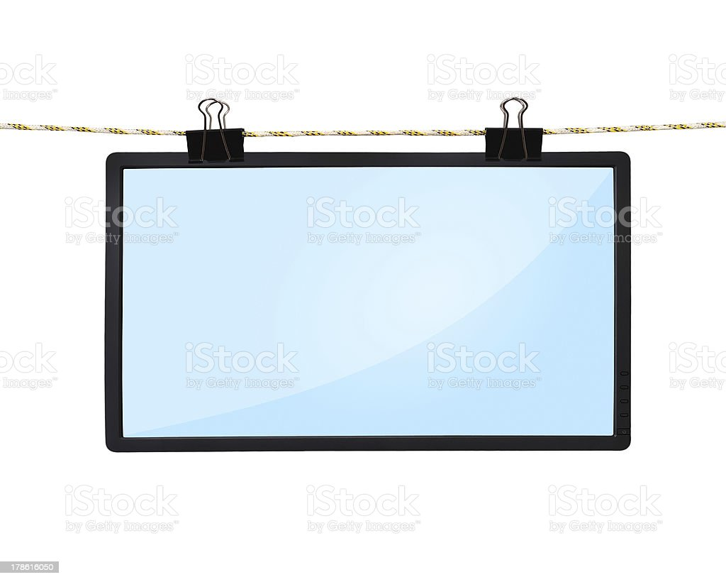 blank LCD tv screen stock photo