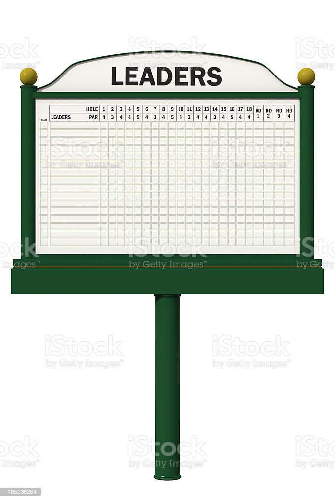 A blank leader board to be used in golf royalty-free stock photo