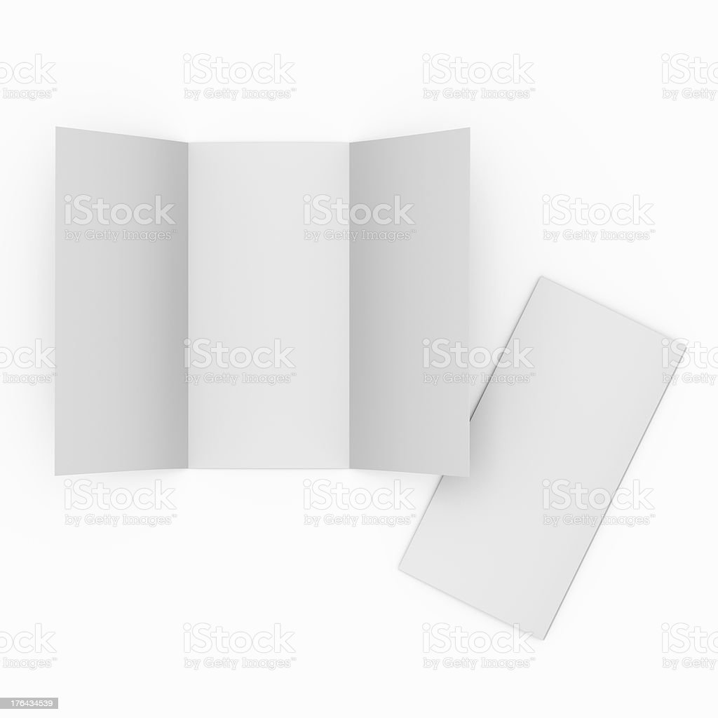 blank leaflet or flier in DL stock photo