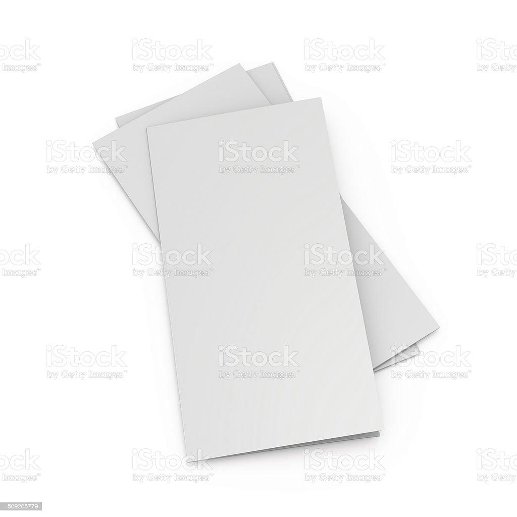 blank leaflets or brochures stock photo