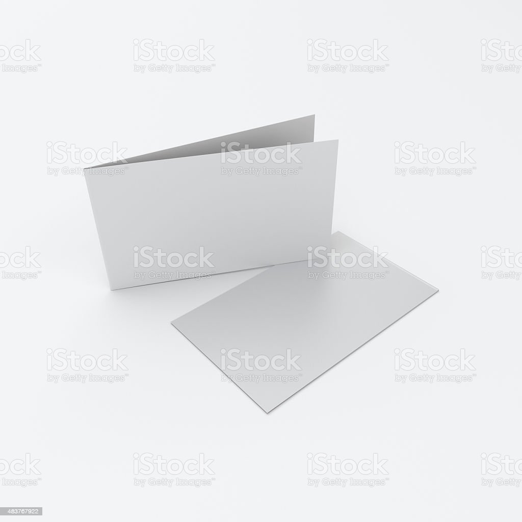 blank leaflets or greeting cards stock photo