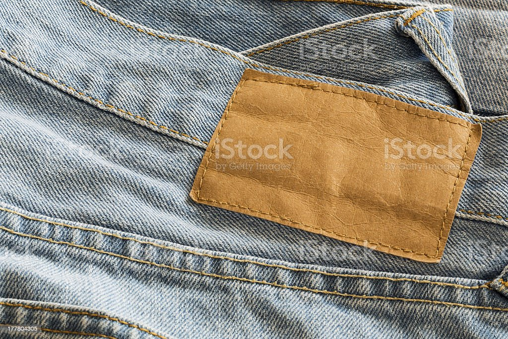 Blank Leather Jeans royalty-free stock photo