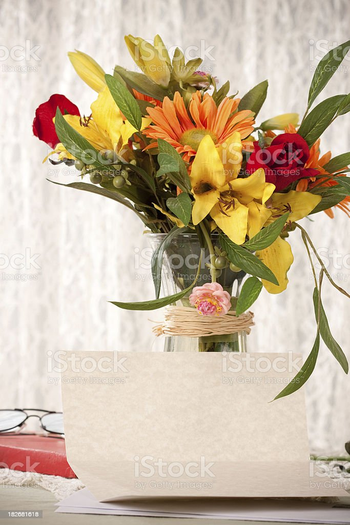 Blank Letter on Elegant Table royalty-free stock photo