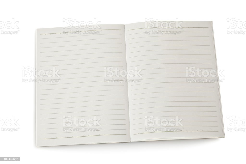 Blank lined notebook royalty-free stock photo