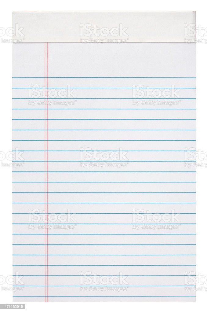 Blank Lined Notepad stock photo