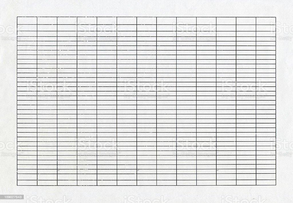 Blank list (XXXL) stock photo