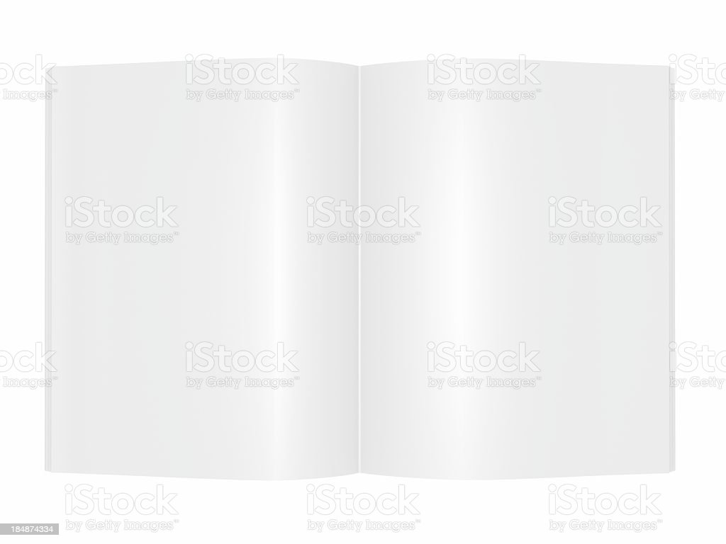 blank Magazine book Brochure royalty-free stock photo