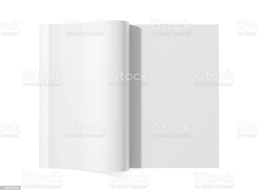 Blank magazine book for white pages stock photo