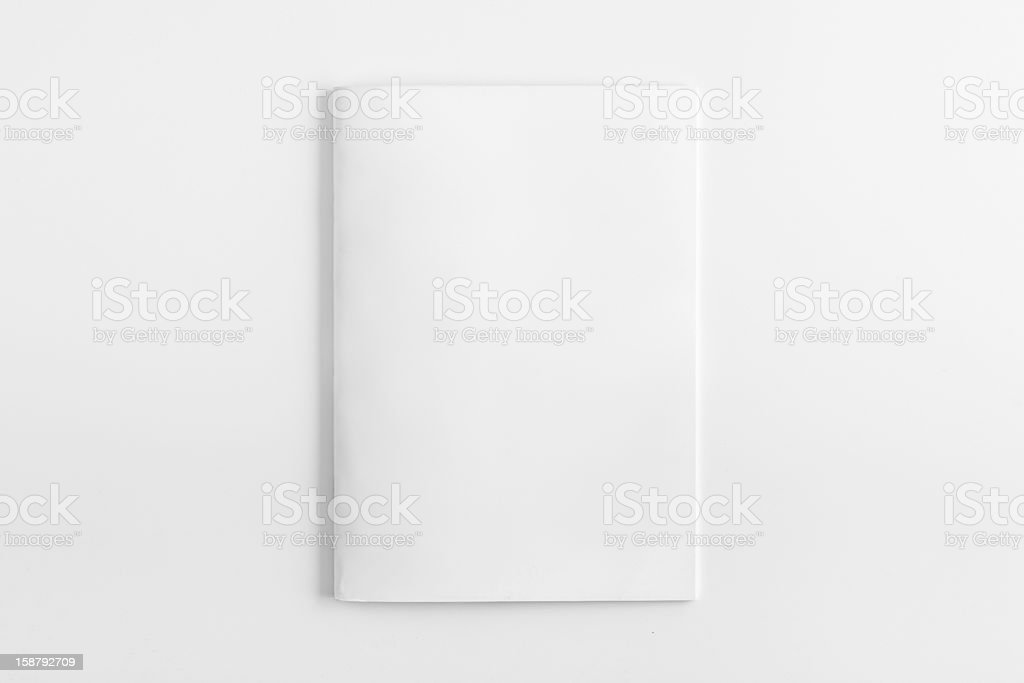 Blank Magazine Brochure Isolated stock photo