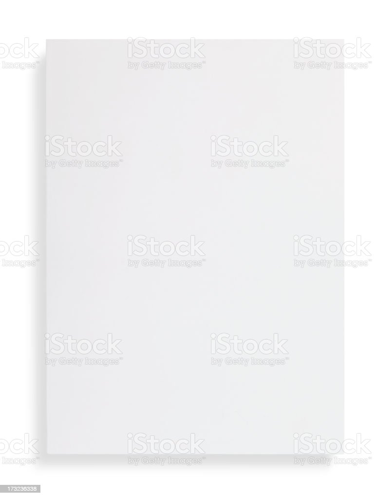 blank magazine cover stock photo