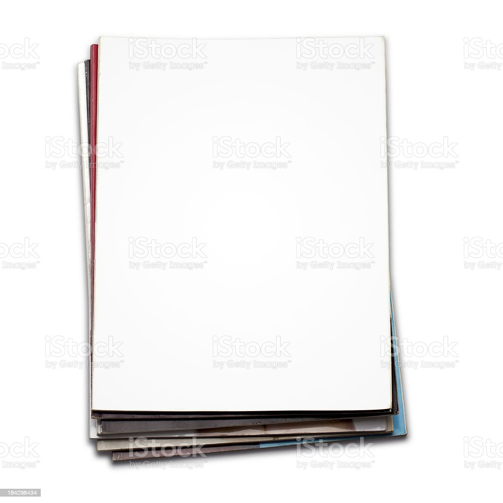Blank magazine cover stock photo