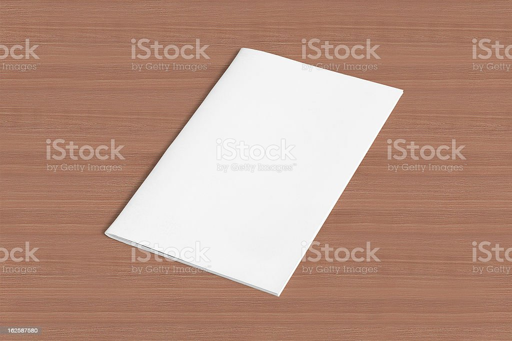 Blank Magazine on the wooden Table royalty-free stock photo