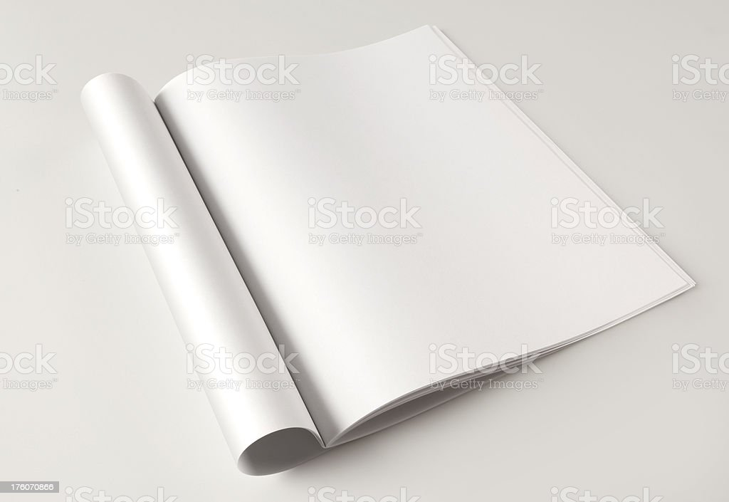 Blank Magazine page royalty-free stock photo
