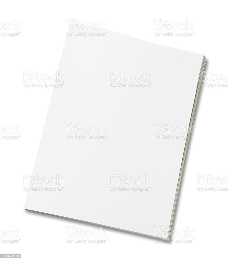 Blank magazine royalty-free stock photo