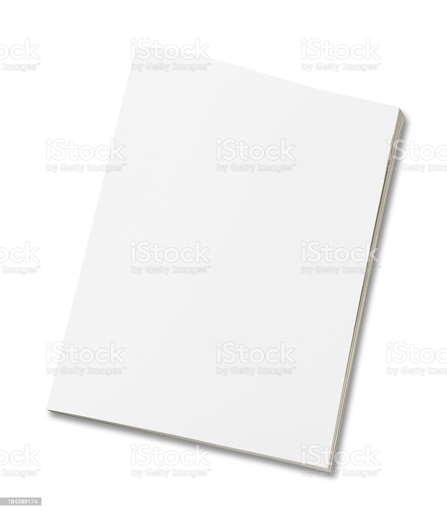Blank magazine stock photo