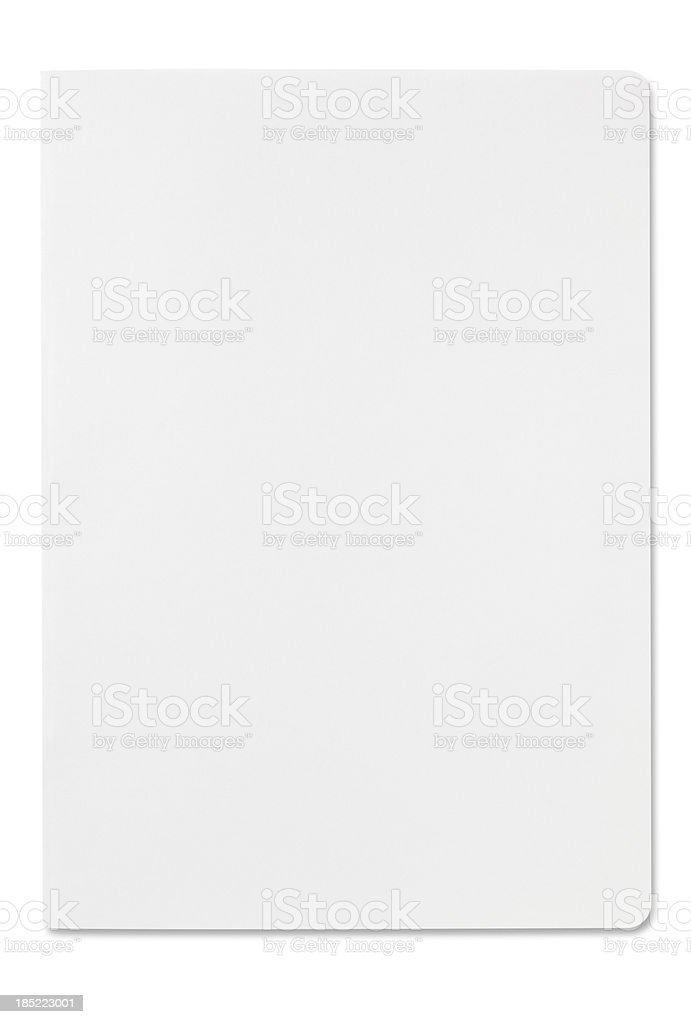 Blank magazine (with clipping path) stock photo
