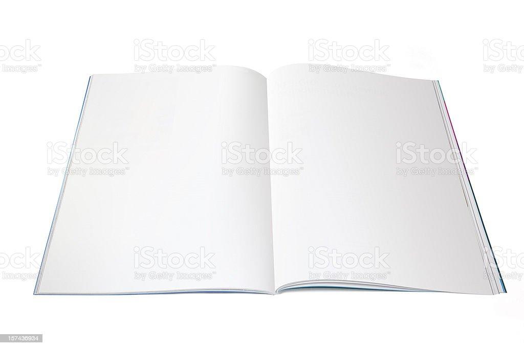Blank magazine spread stock photo