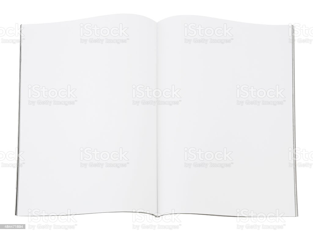 Blank Magazine Spread (with path) stock photo