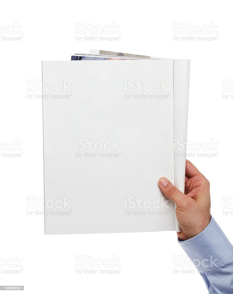 Blank magazine with copy space royalty-free stock photo