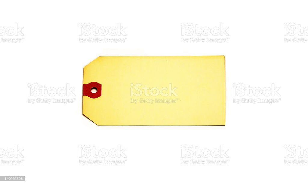 Blank Mailing Label stock photo