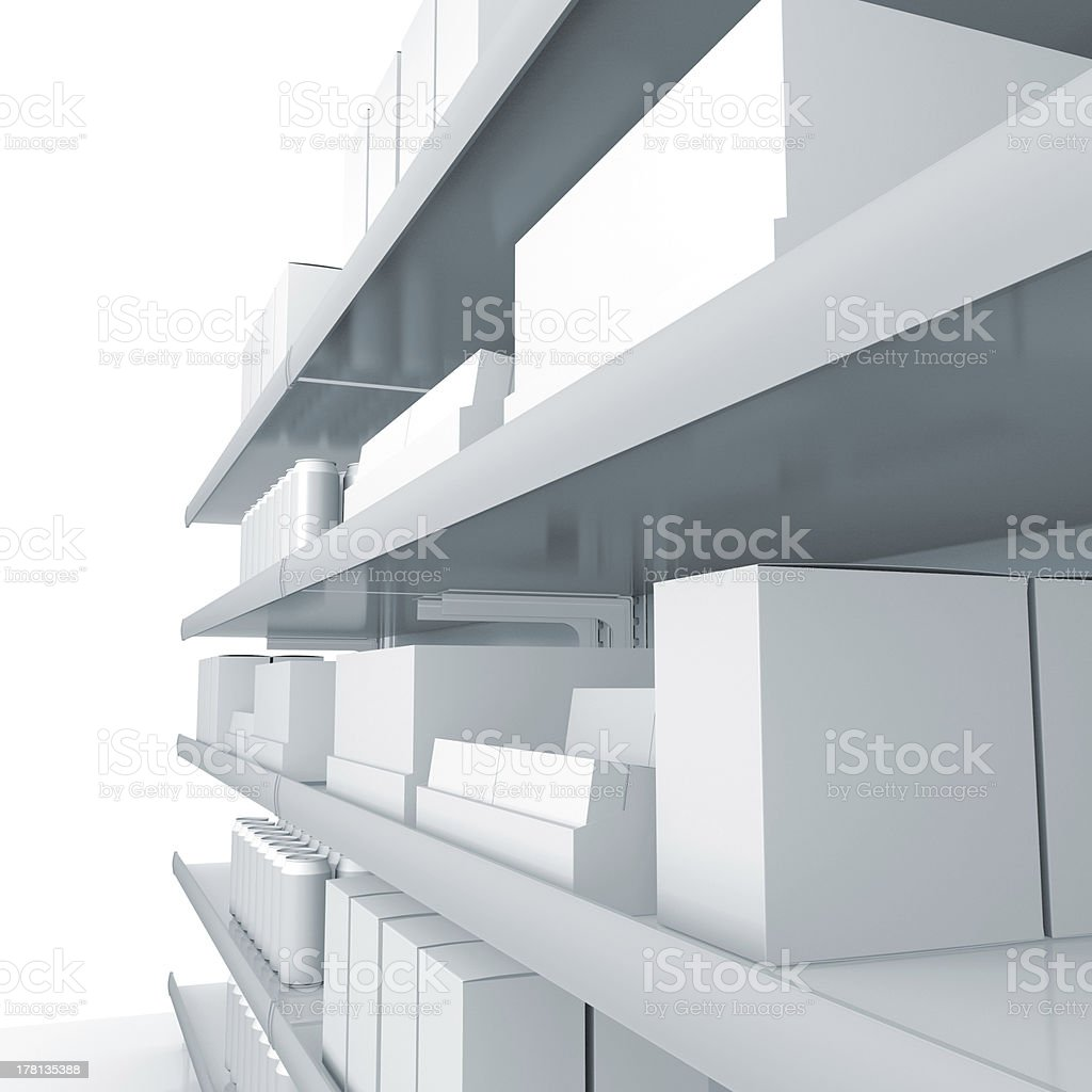 blank mall products on shelves royalty-free stock photo