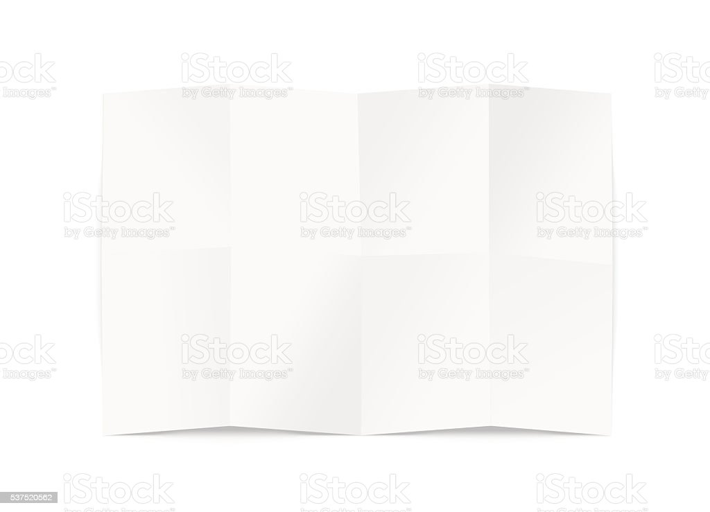 Blank map design mockup, isolated, clipping path, 3d illustration. stock photo