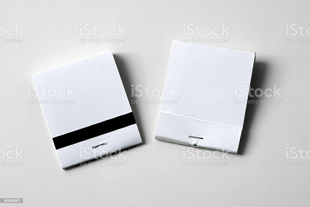 blank matchbooks stock photo