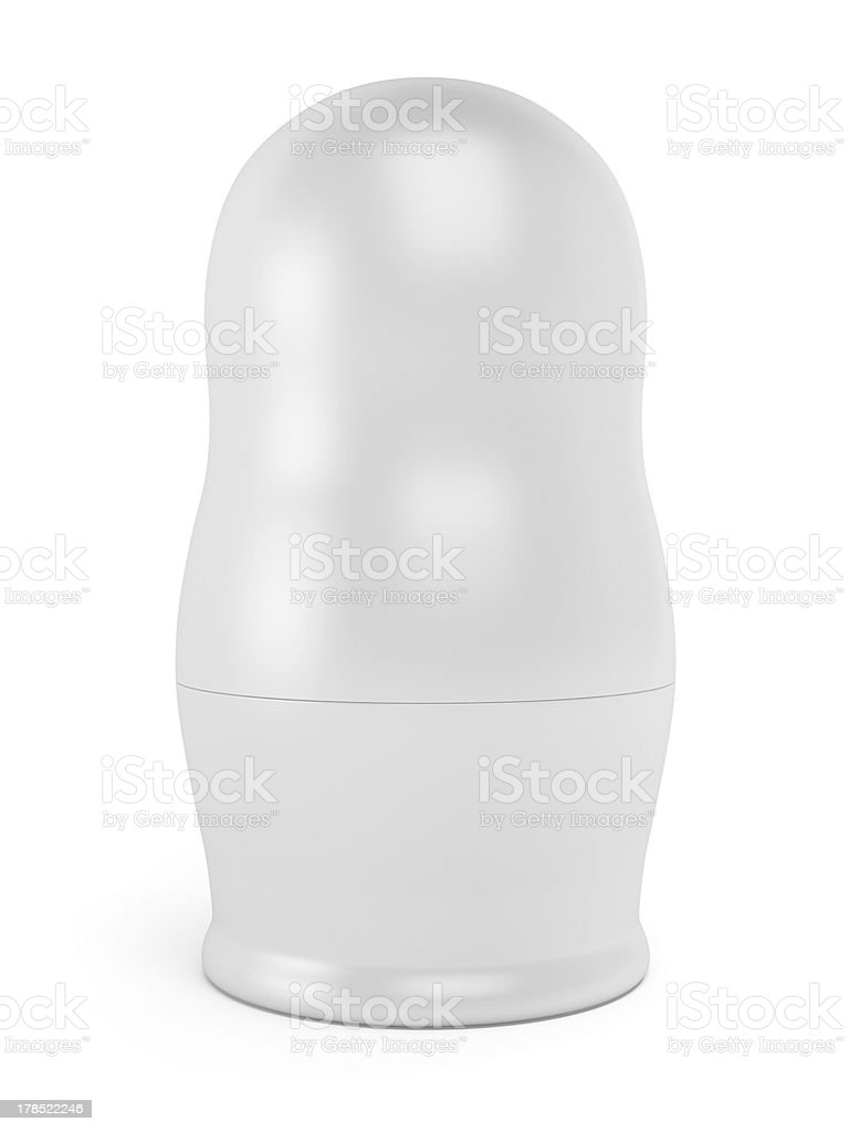 Blank matreshka stock photo