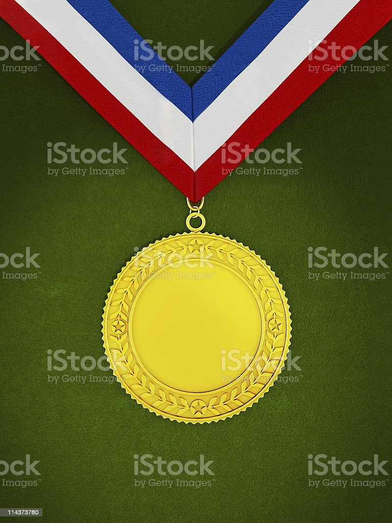 Blank medallion royalty-free stock photo