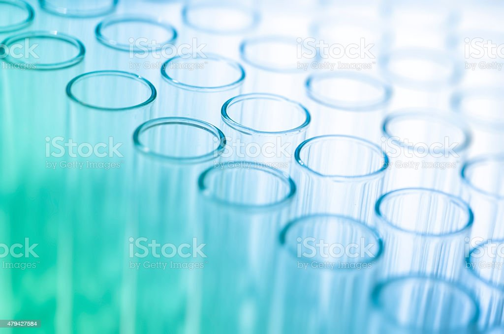 Blank medical test tubes stock photo