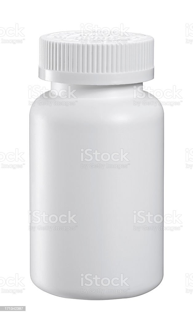 Blank Medicine Bottle stock photo