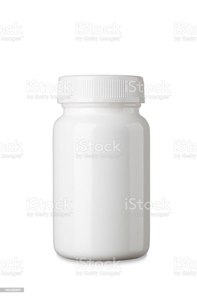 Blank Medicine bottle stock photo