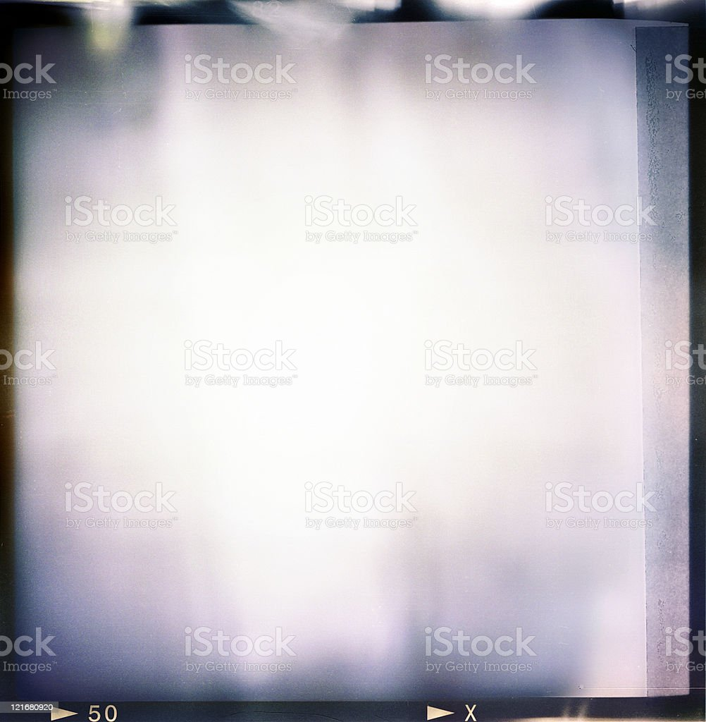 Blank medium format film frame stock photo