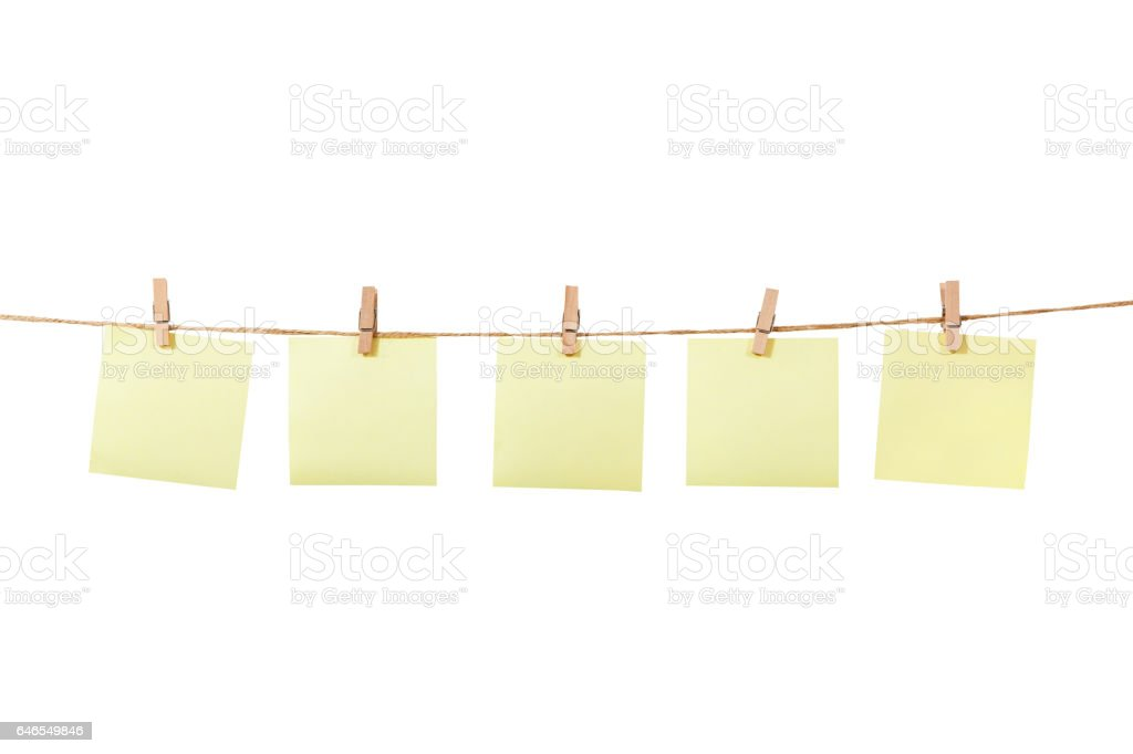 Blank Memo. Wooden Easel With Blank Memo On White Background Stock